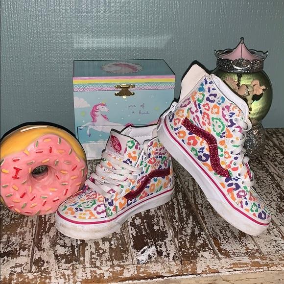 Vans Shoes | Sk8hi Rainbow Camo Toddler